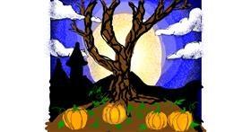 Pumpkin drawing by Cherri