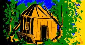 Treehouse drawing by Chicken