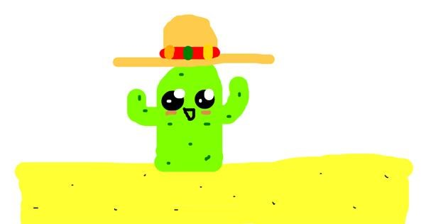 Cactus drawing by Dogemaster