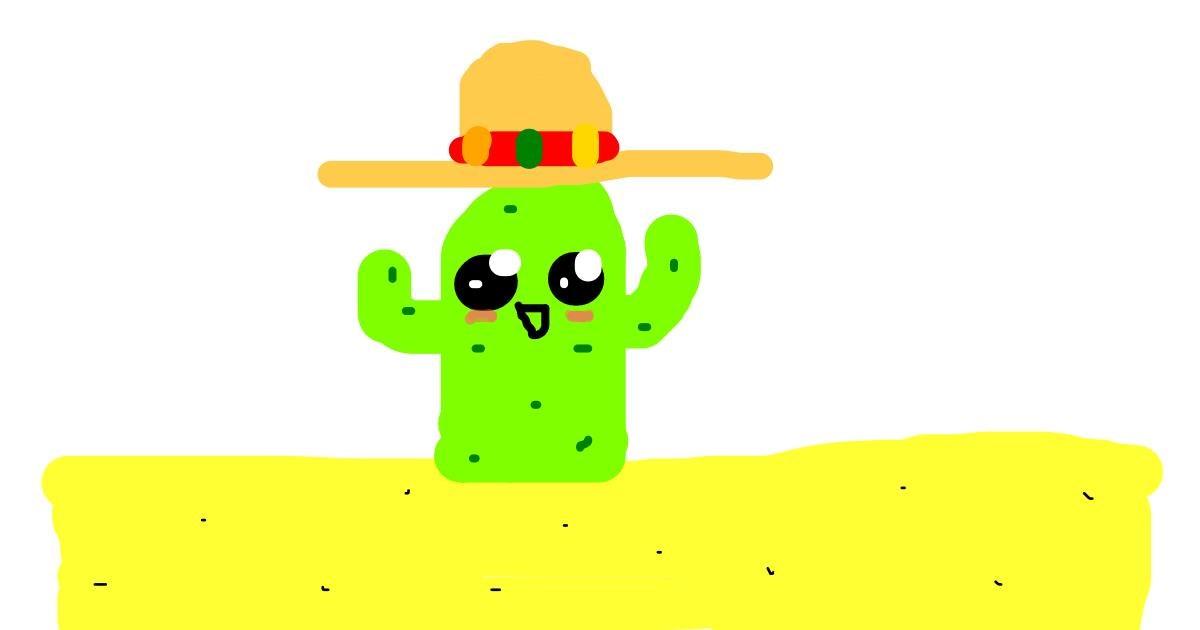 Cactus drawing by Dogemaster