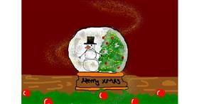 Snow globe drawing by christine