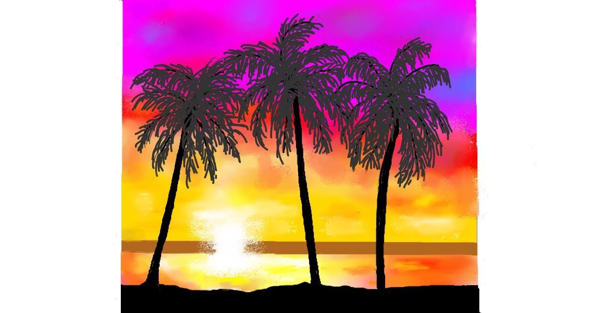 Beach drawing by GJP
