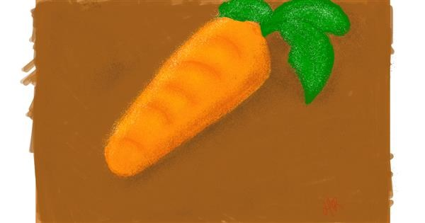 Carrot drawing by Obnoxious But Consistent