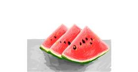 Watermelon drawing by Hienie