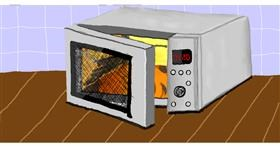 Drawing of Microwave by Humo de copal