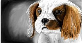 Drawing of Dog by Soaring Sunshine
