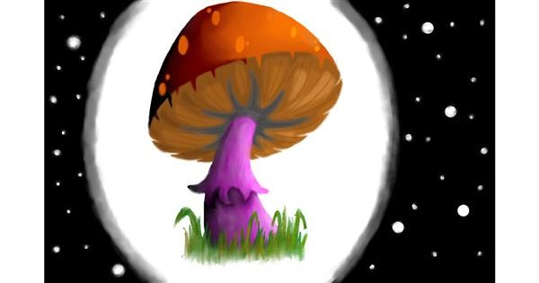 Mushroom drawing by Pickles