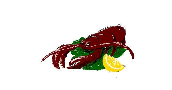 Lobster drawing by ShyFox