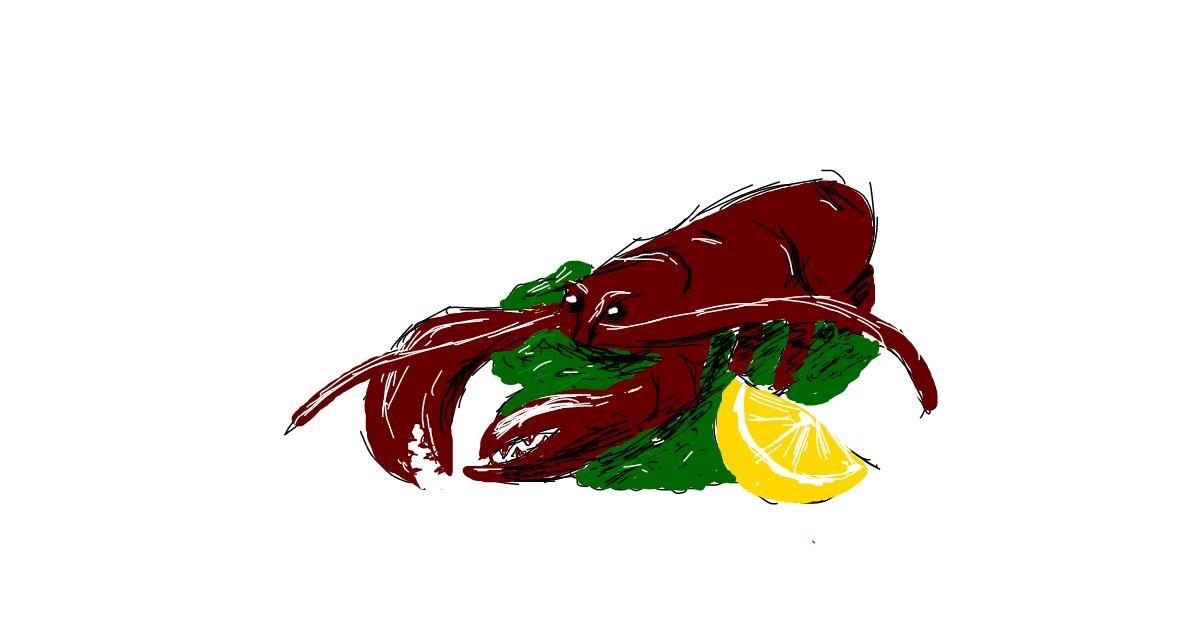 Drawing of Lobster by ShyFox