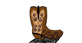 Boots drawing by Ashley
