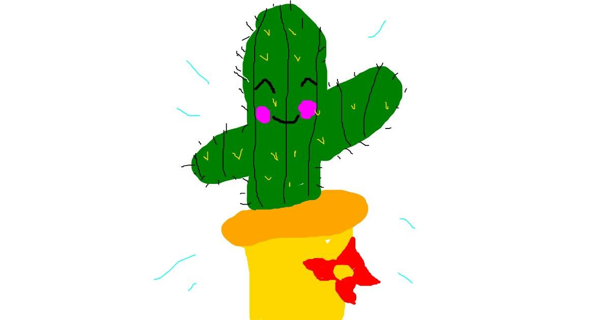 Cactus drawing by Roxy