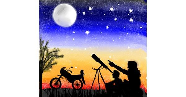 Telescope drawing by Gzell
