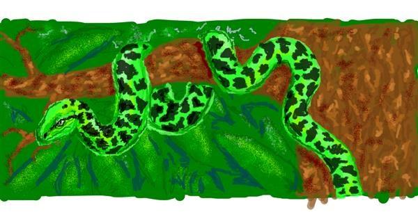 Snake drawing by WindPhoenix