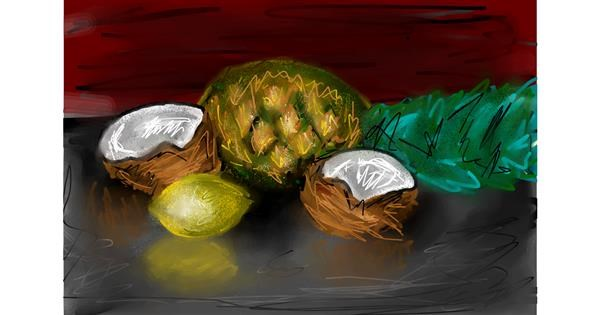 Coconut drawing by Soaring Sunshine