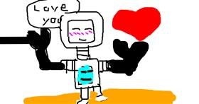 Robot drawing by Tyler