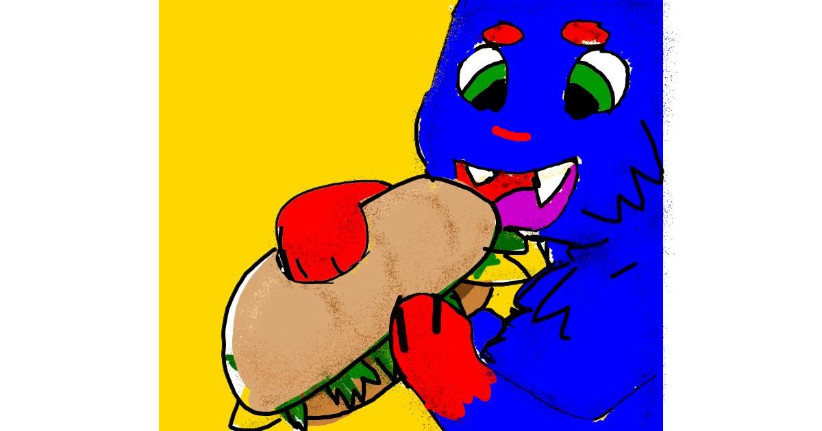 Drawing of Sandwich by Data
