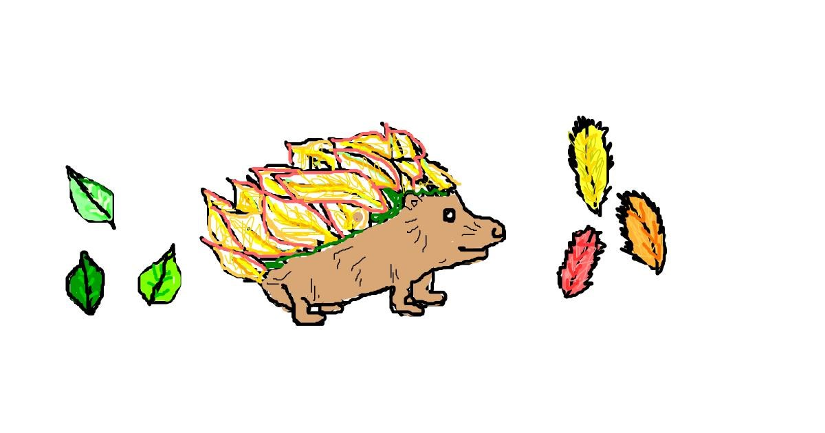 Hedgehog drawing by Stacia🍟🍔🍩