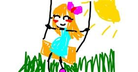 Swing drawing by Rosy