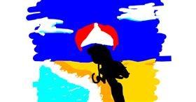 Beach drawing by shilah