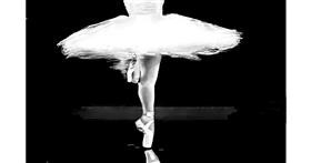 Ballerina drawing by GJP