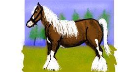 Horse drawing by Cherri