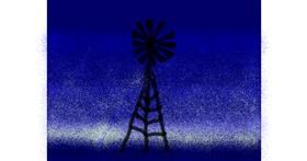 Windmill drawing by Anonymous