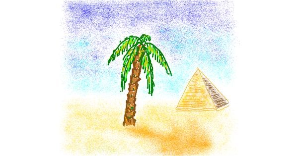 Palm tree drawing by dogod