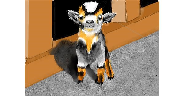 Goat drawing by SAM 🙄