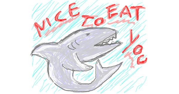 Shark drawing by pInKy