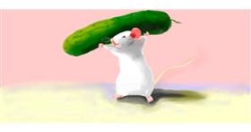 Drawing of Cucumber by Debidolittle
