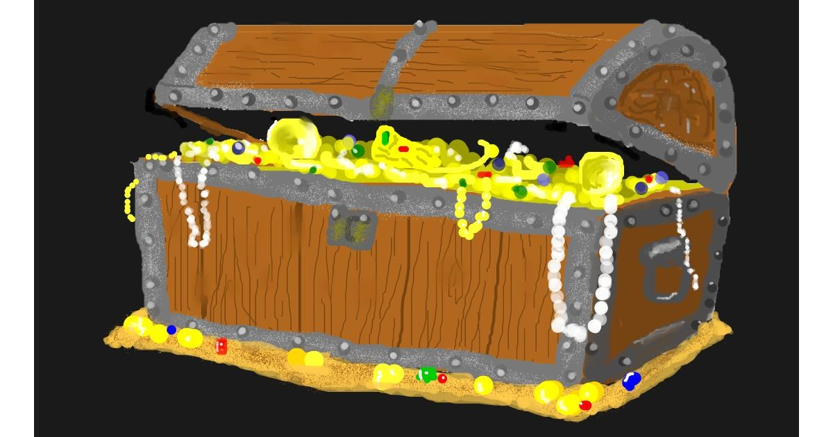 Drawing of Treasure chest by Pinky