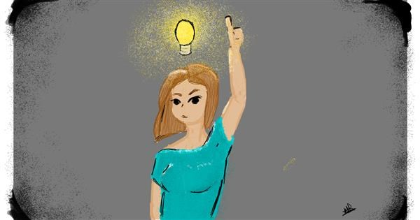 Light bulb drawing by Obnoxious But Consistent