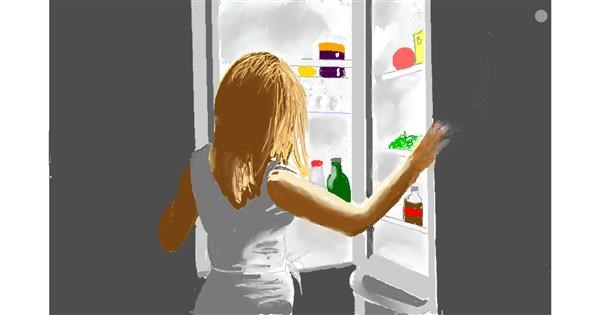 Refrigerator drawing by GJP