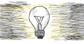 Light bulb drawing by Turtle