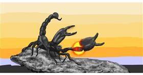 Drawing of Scorpion by Humo de copal