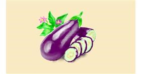 Eggplant drawing by Pinky