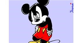 Drawing of Mickey Mouse by InessaC