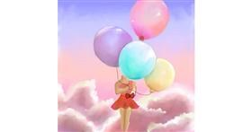Balloon drawing by 💝Alena💕