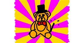 Bear drawing by Kamie