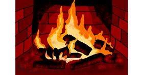 Fireplace drawing by Jimmah