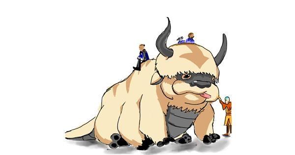 Bison drawing by Rose rocket