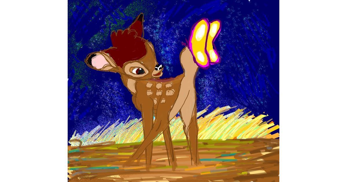 Drawing of Bambi by Iris
