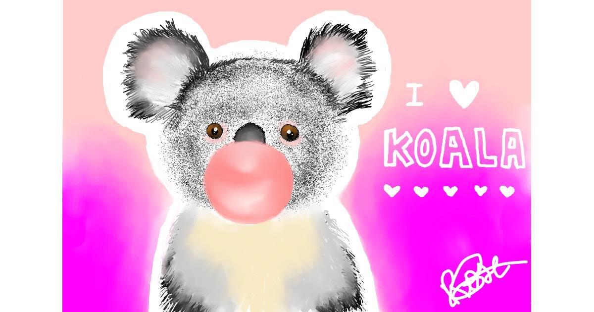 Drawing of Koala by Viki 🥑🦋