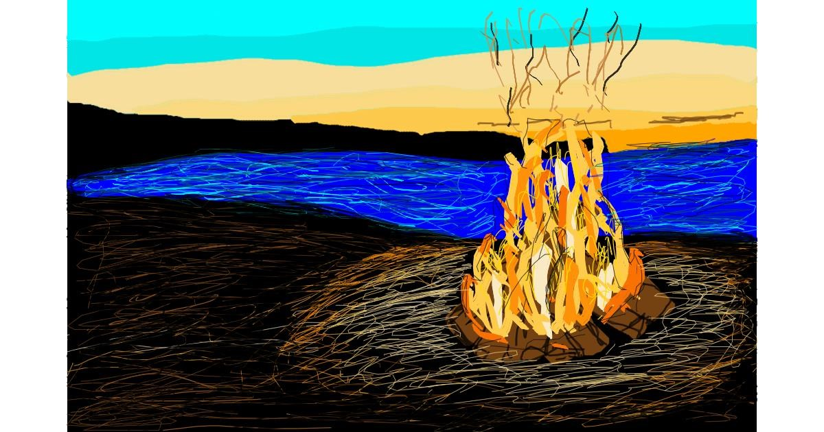 Campfire drawing by Oliver C.