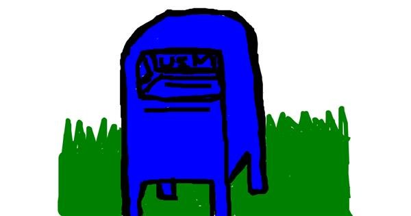 Mailbox drawing by Anonymous