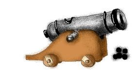 Cannon drawing by Stephanie