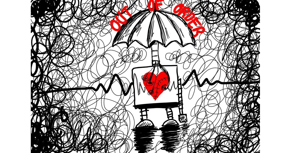 Drawing of Robot by NYA
