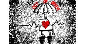 Robot drawing by NYA