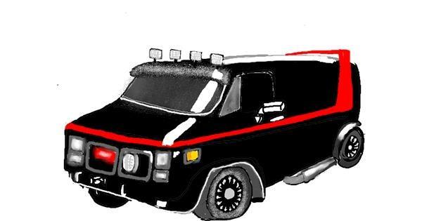 Van drawing by SAM 🙄