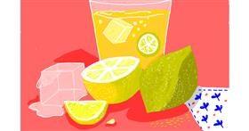 Lemon drawing by Upasana
